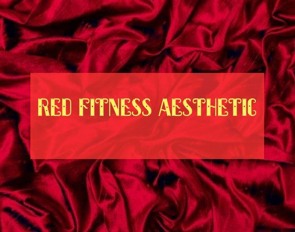 red fitness aesthetic #fitness #aesthetic