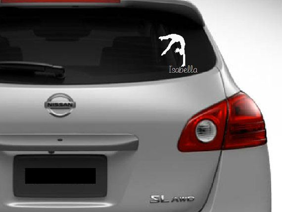 Gymnast car decal free shipping in usa by customvinylbydesign 6 50 hoho ideas pinterest car decal gymnasts and gymnastics