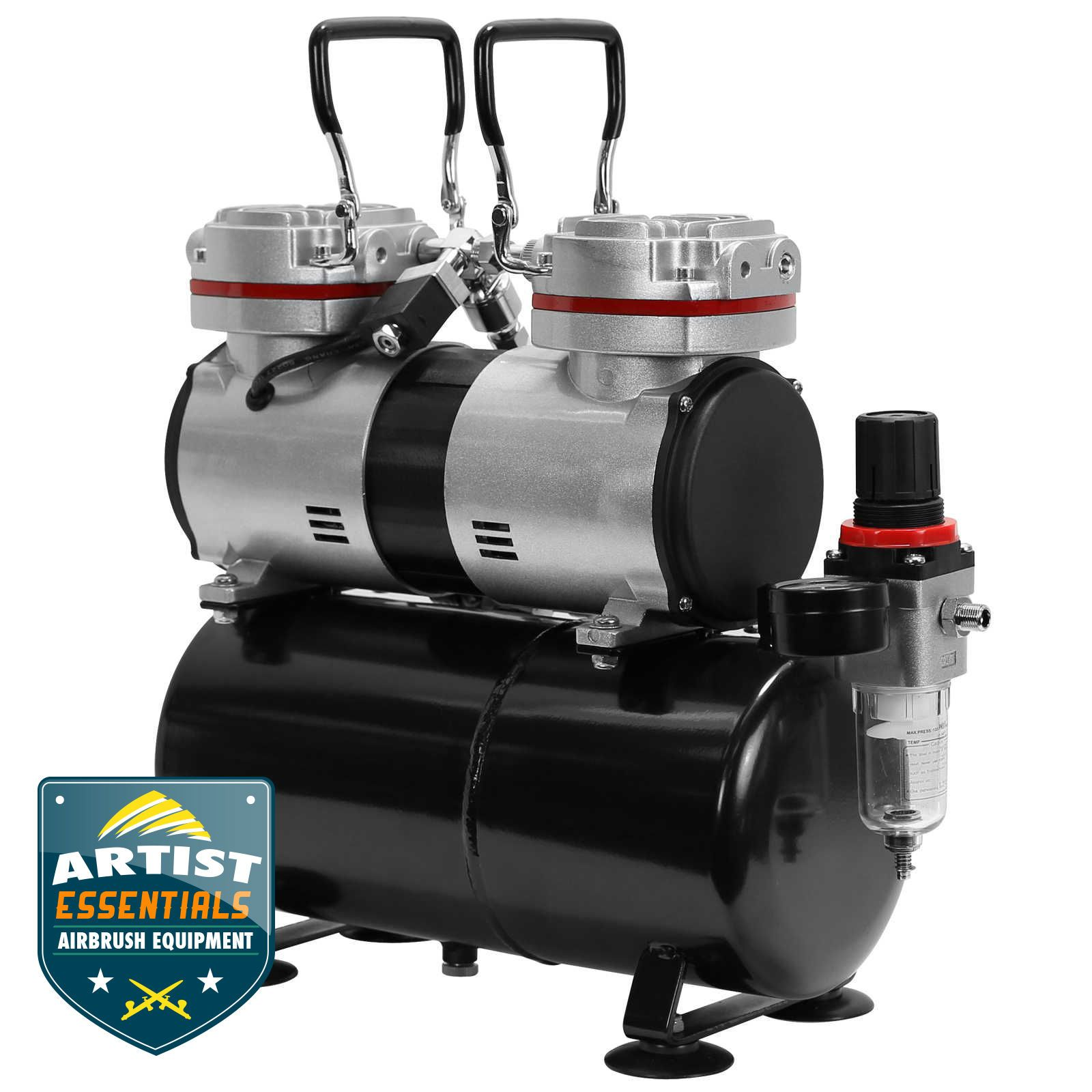 Details about 1/3 HP Twin Piston Airbrush Compressor