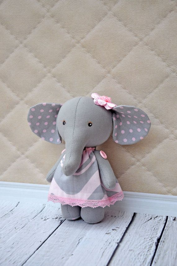 Textile elephant rag toy elephant doll | Kuscheltier nähen ...
