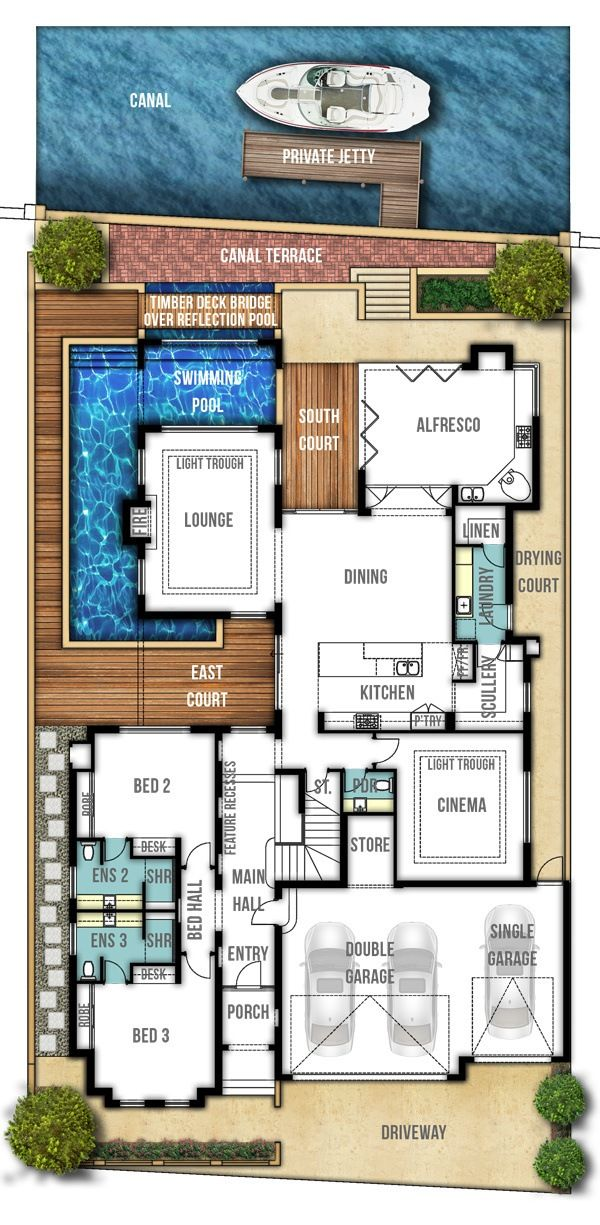 Dudley Two Storey Canal Home Design Ground Floor By Boyd Design Perth Beach House Floor Plans Beach House Flooring Floor Plan Design