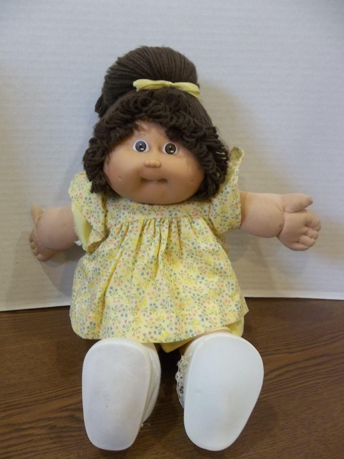 Vintage Cabbage Patch Kids Girl Doll 1978 1982 Brown Hair Brown Eyes Ponytail