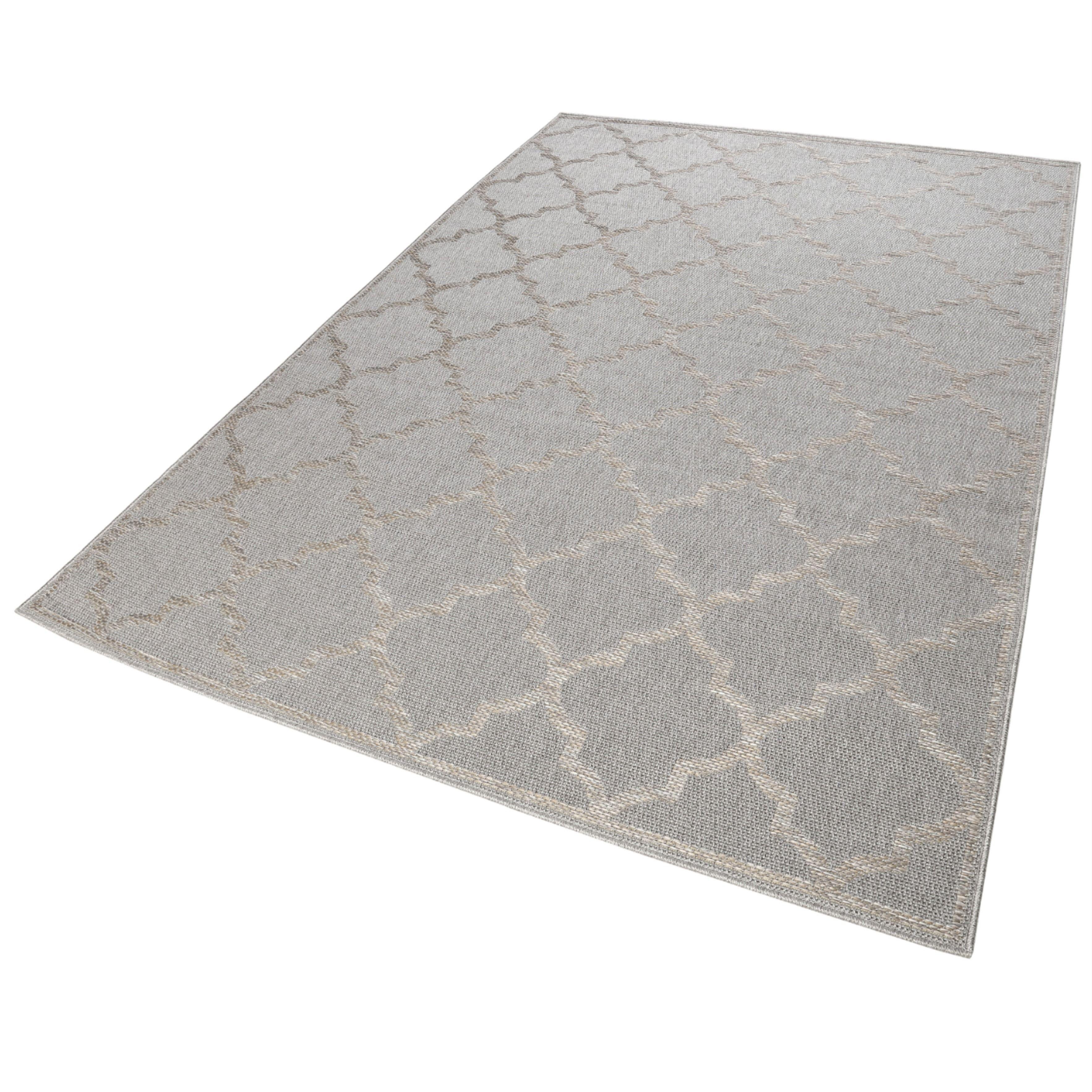 Outdoor Teppich Grau Silber » Gleamy « Wecon Home