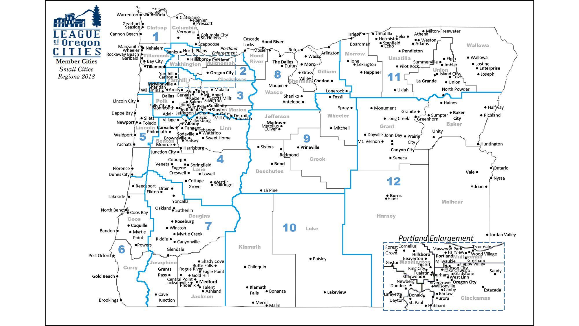 Oregon City Oregon Map Map of Oregon Cities | Oregon city, City, Oregon