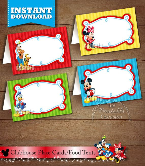 BLANK FOOD TENTS, Mickey Mouse Clubhouse Food Tents ...