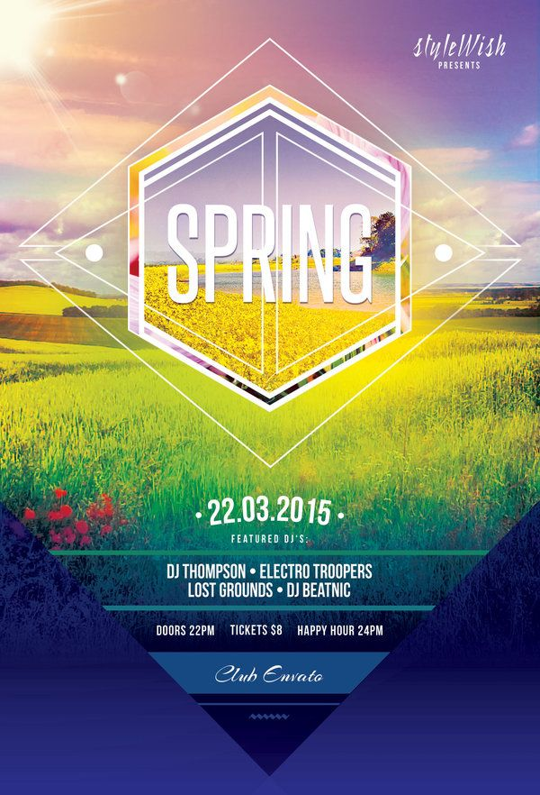 Spring Flyer Template on Graphicriver (Buy PSD file - $9) #design - spring flyer template