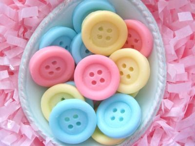 too cute....button soaps!