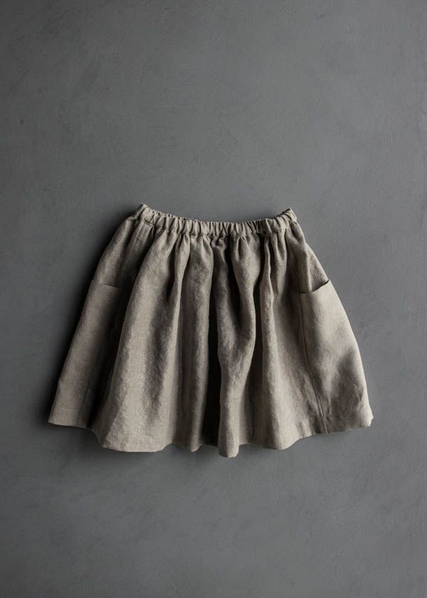 Gathered Skirt for All Ages in Mineral Linen | Purl Soho-Sewing ...