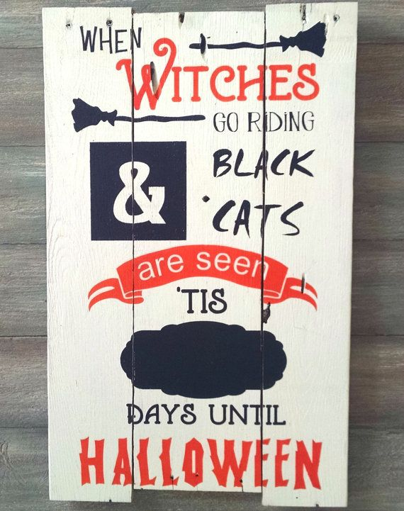 Halloween Countdown Sign Days to Halloween Sign Countdown ...