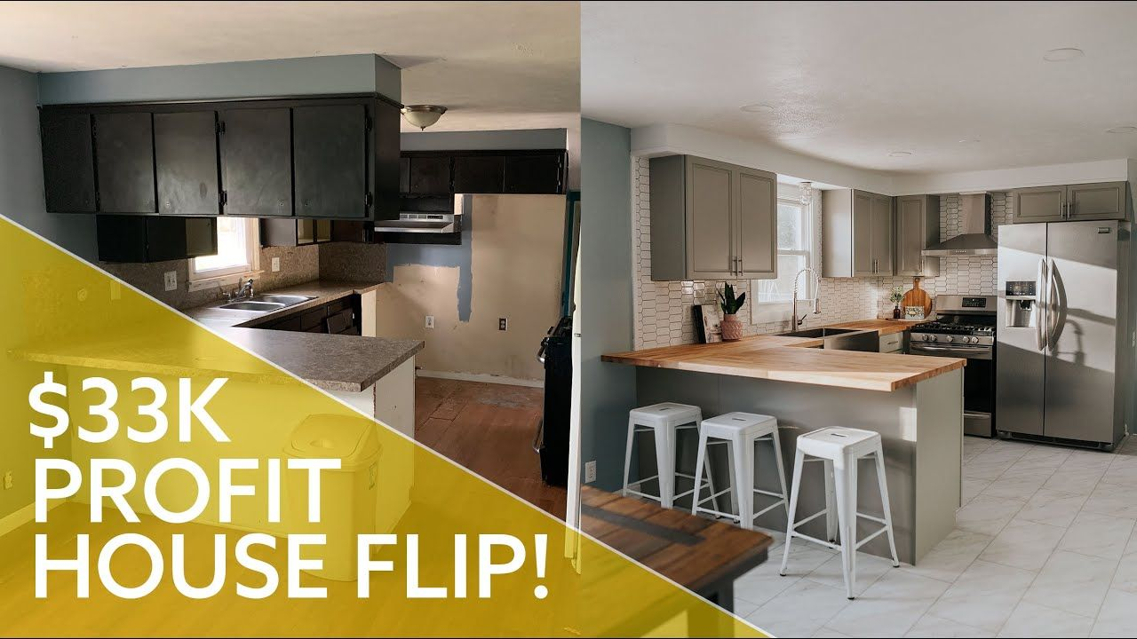 House Flip Before And After 33,000 Profit 3 Month Home