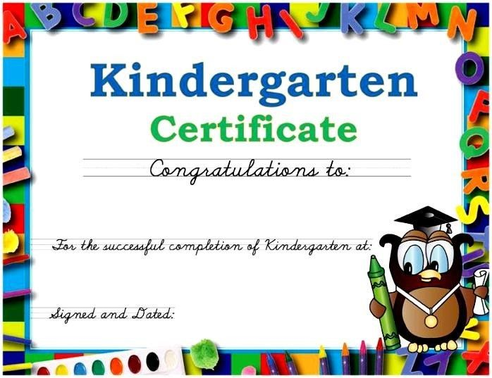 Sample Certificate Of Achievement In Kindergarten  Kinder Ideas
