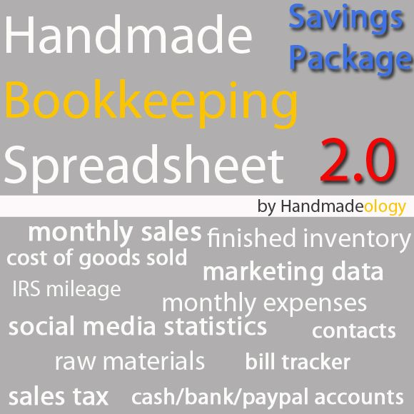 Handmade bookkeeping spreadsheet financial peace and security