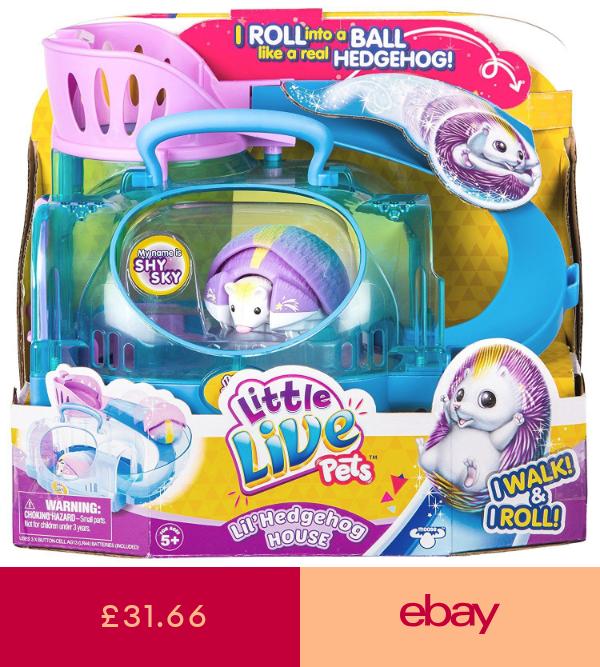 Little Live Pets Electronic Pets Toys Games Ebay Little Live Pets Hedgehog Pet Hedgehog House