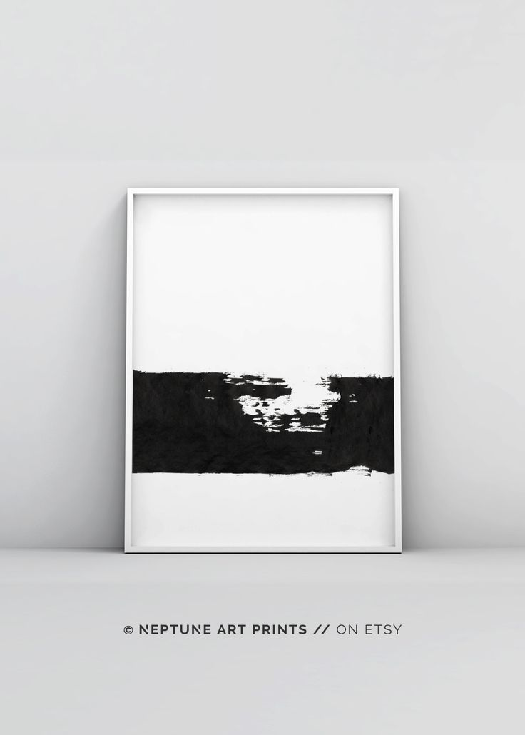 Brush strokes art minimal poster print paint brush strokes large modern print black white digital prints gift ideas housewarming gift