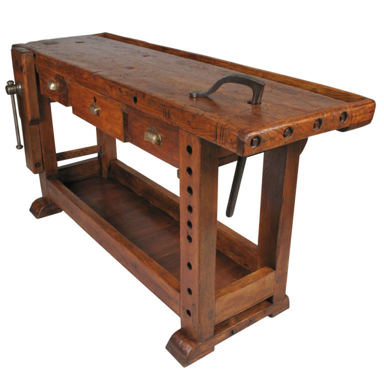 French Country Style Carpenter S Workbench The Bench