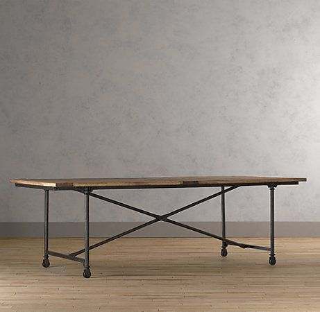 Flatiron Rectangular Dining Table With Images Eclectic Dining