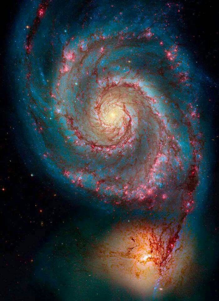 Galaxy Du Tourbillon M51 Tatouage