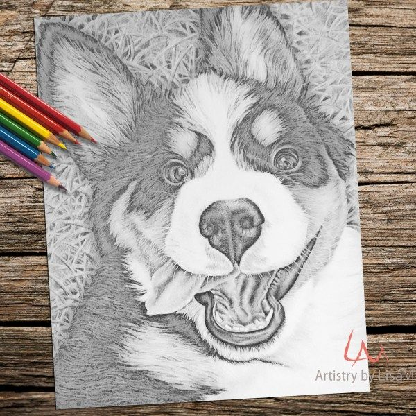 How Will You Color In This Adorable Coloring Page Drawn By Hand And Ready For
