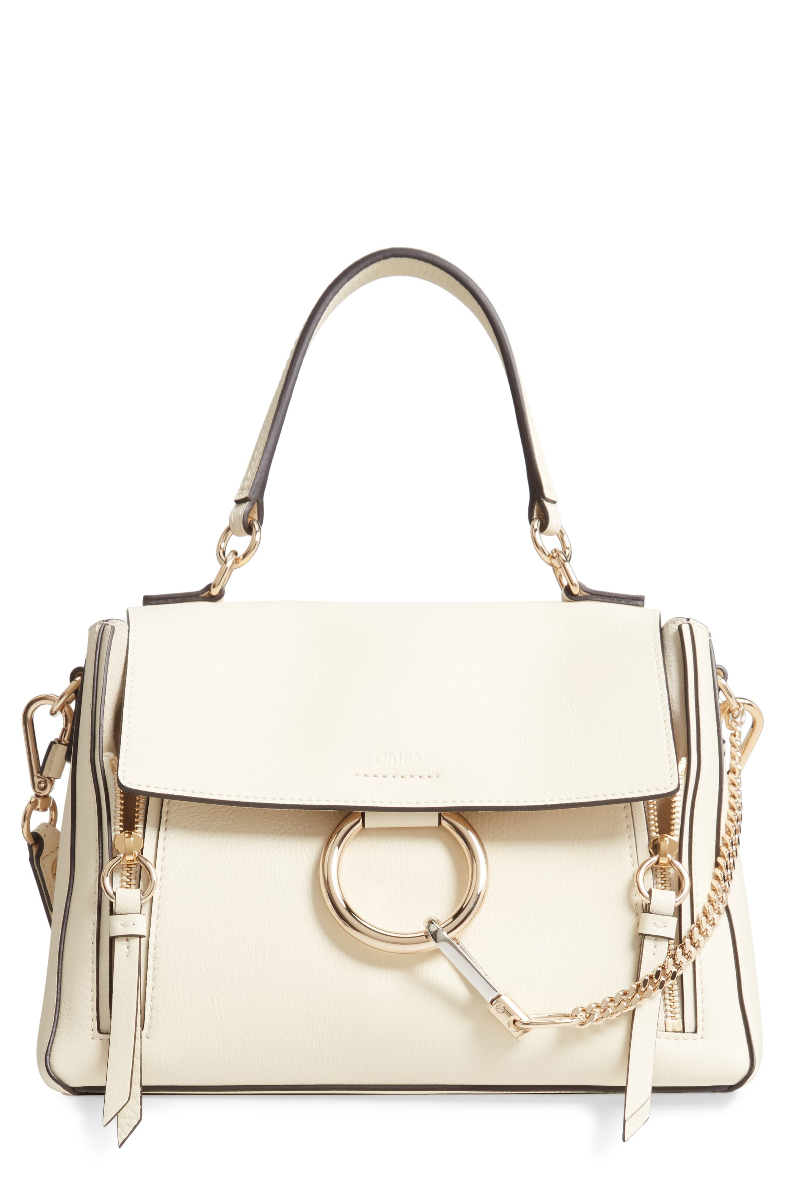 7e40f6397 Chloé Small Faye Day Leather Shoulder Bag - White in 2019 | Products ...