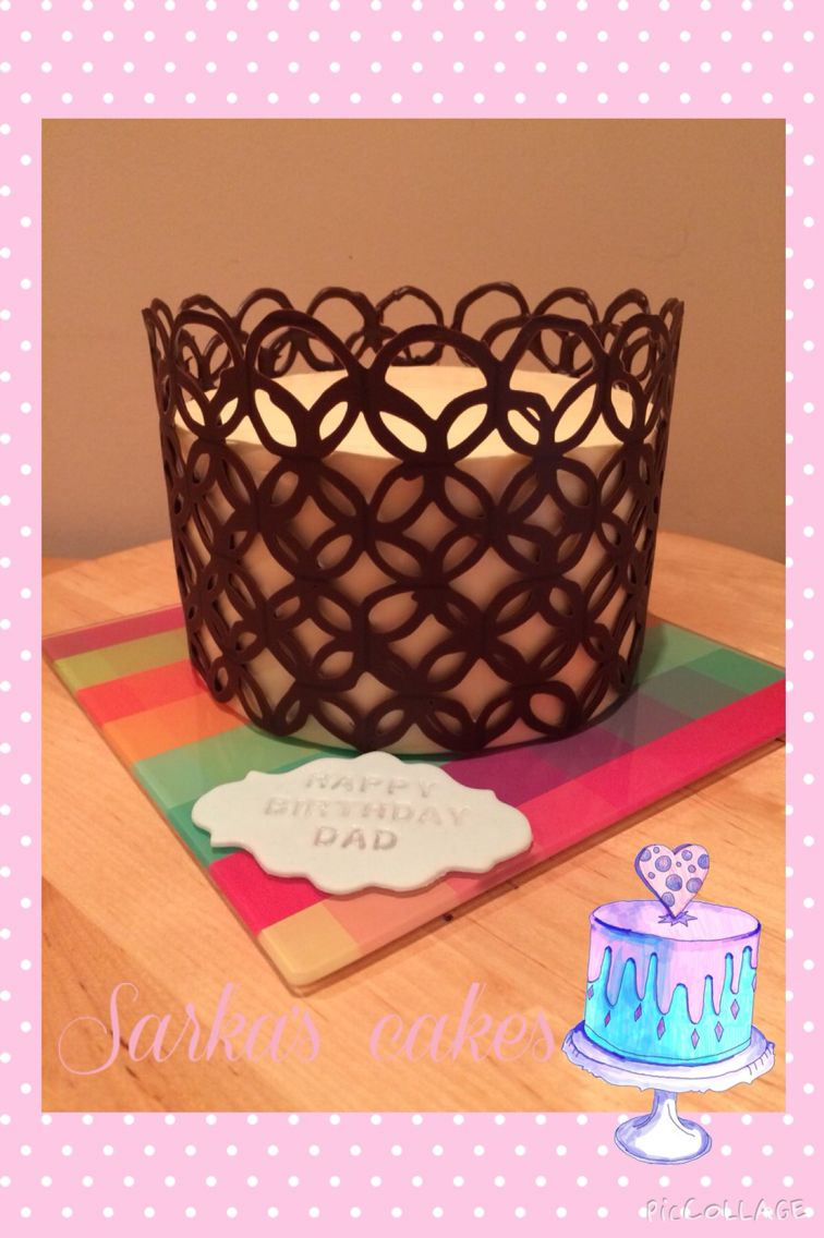 Passion cake with chocolate cage