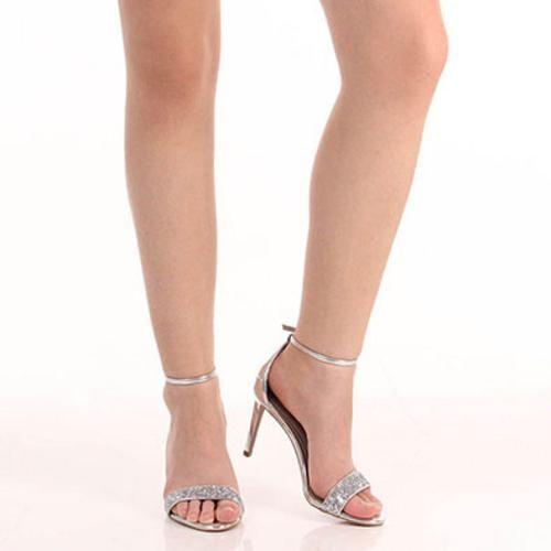 fcd5a2348 Sandália Salto Feminina Lara - Prata 99,90 | Sapatos | Shoes ...
