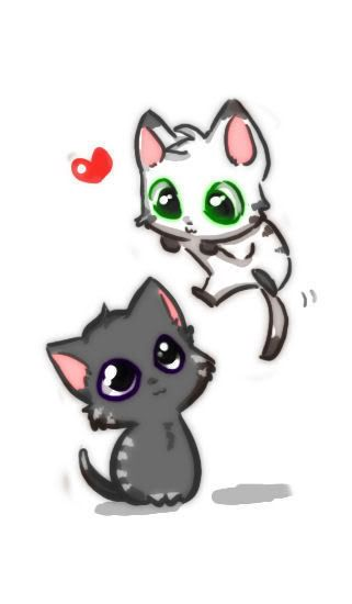 Cute Chibi Animals Wallpaper Cute Animals Anime Kitten Cat