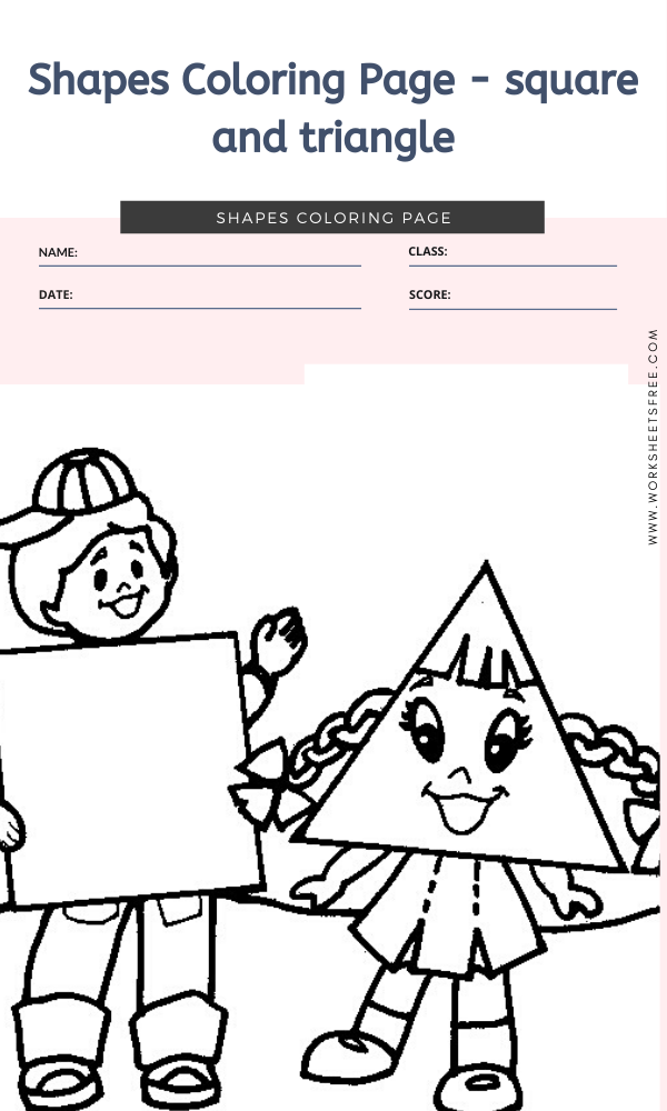 Shapes Coloring Page square and triangle Top 10 Shapes