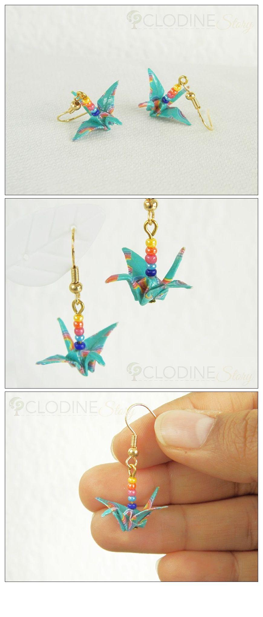 Origami Earrings Galore! | Little Bird de Papel | 2039x870