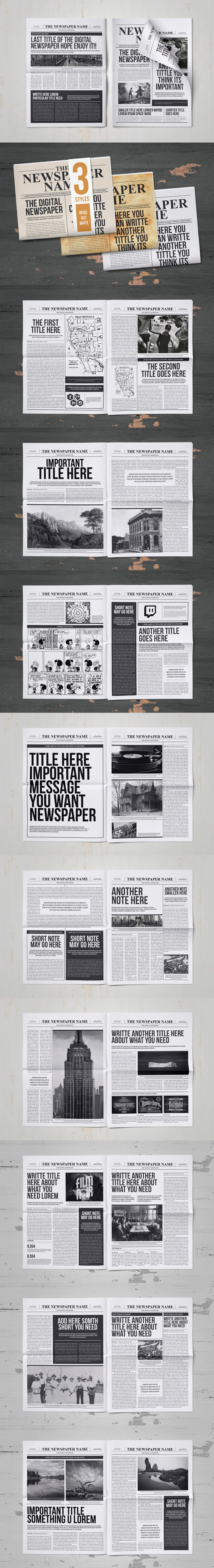 Classy Newspaper Indesign Template Indesign Indd   Pages