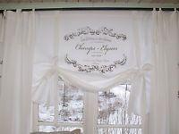 Lillabelle Elegance Weiss Raff Gardine Rollo 120x100 Shabby Landhaus Vintage Shabby Chic Decor White Curtains Curtains