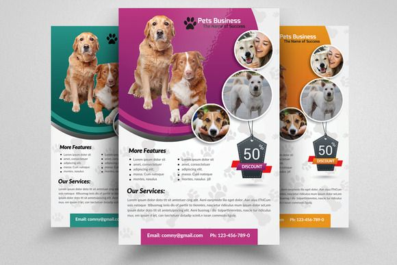 pet shop business flyer template by business flyers on