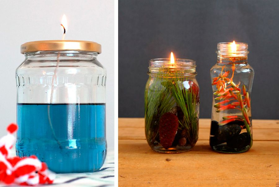 Lampada Barattolo Vetro : Lampada ad olio creata con i barattoli di vetro mason jar oil
