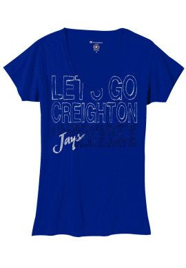 102307437fbba CHAMPION PRODUCTS : Creighton University Bluejays Women's V-Neck ...