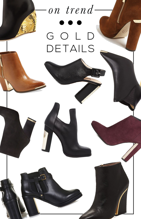 Fall Trend: Ankle Boots with Gold Details  STYLE'N