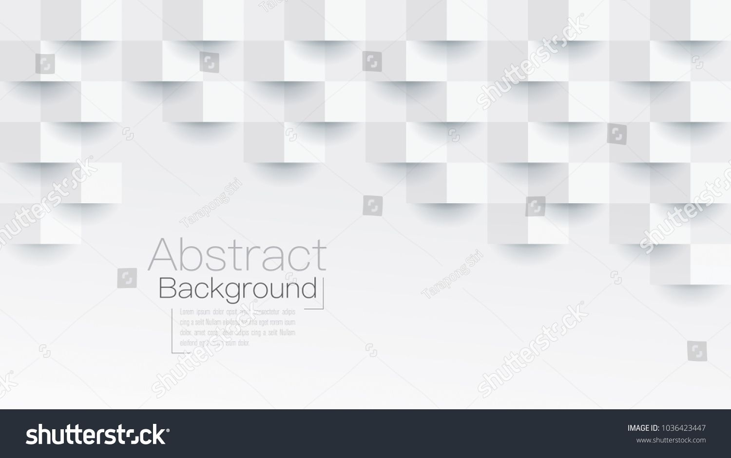 White Abstract Texture Vector Background 3d Paper Art Style Can