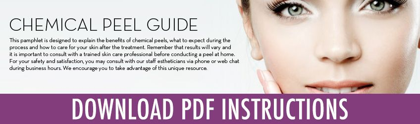 Peel instructions with images facial peel chemical