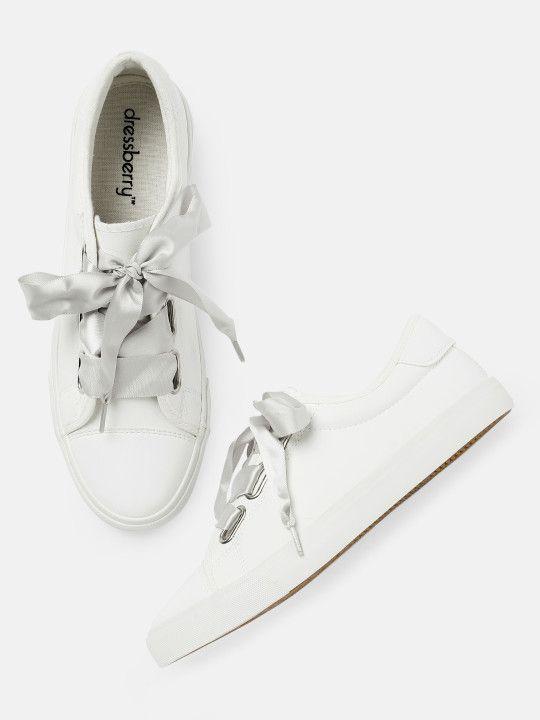 DressBerry Women White Sneakers | White