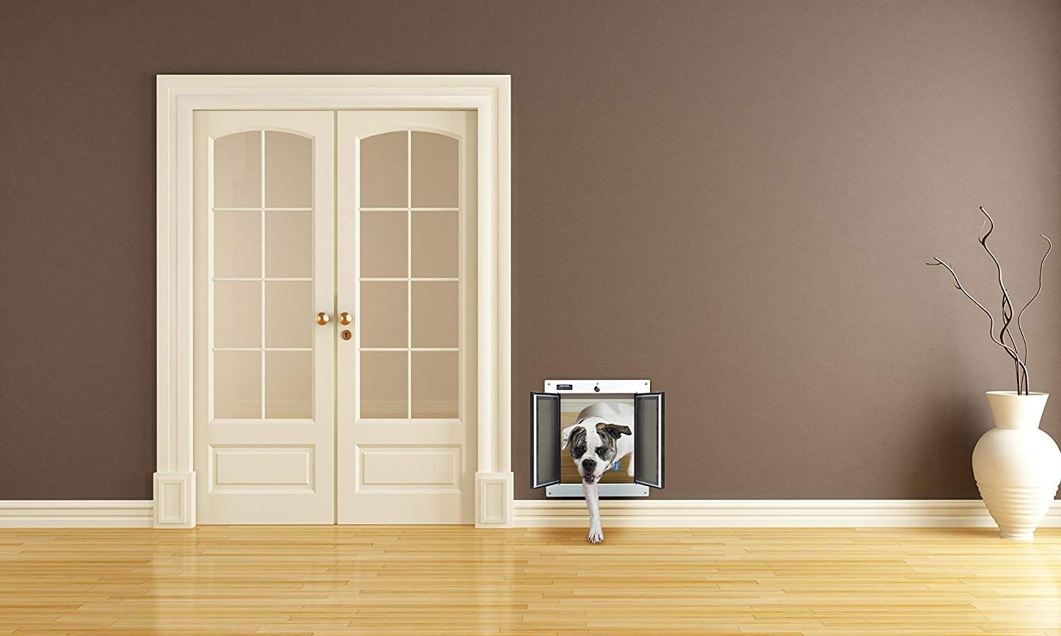 Incredibly Easy Installation Expandable Tunnel In Wall Mount Version Fits Walls From 4 75 Inch To Interior Door Styles Doors Interior Best Dog Door