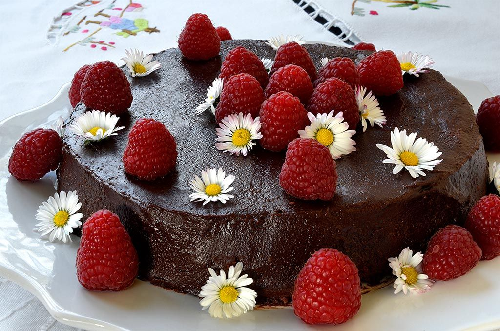 Gateau Au Chocolat Et Framboises Ma Cuisine Sante Recette Gateau Chocolat Gateau Chocolat Framboise Gateau