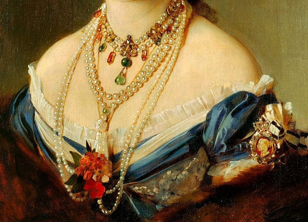 """ Victoria, Princess Royal, Crown Princess of Germany, Detail. by Baron Heinrich von Angeli """