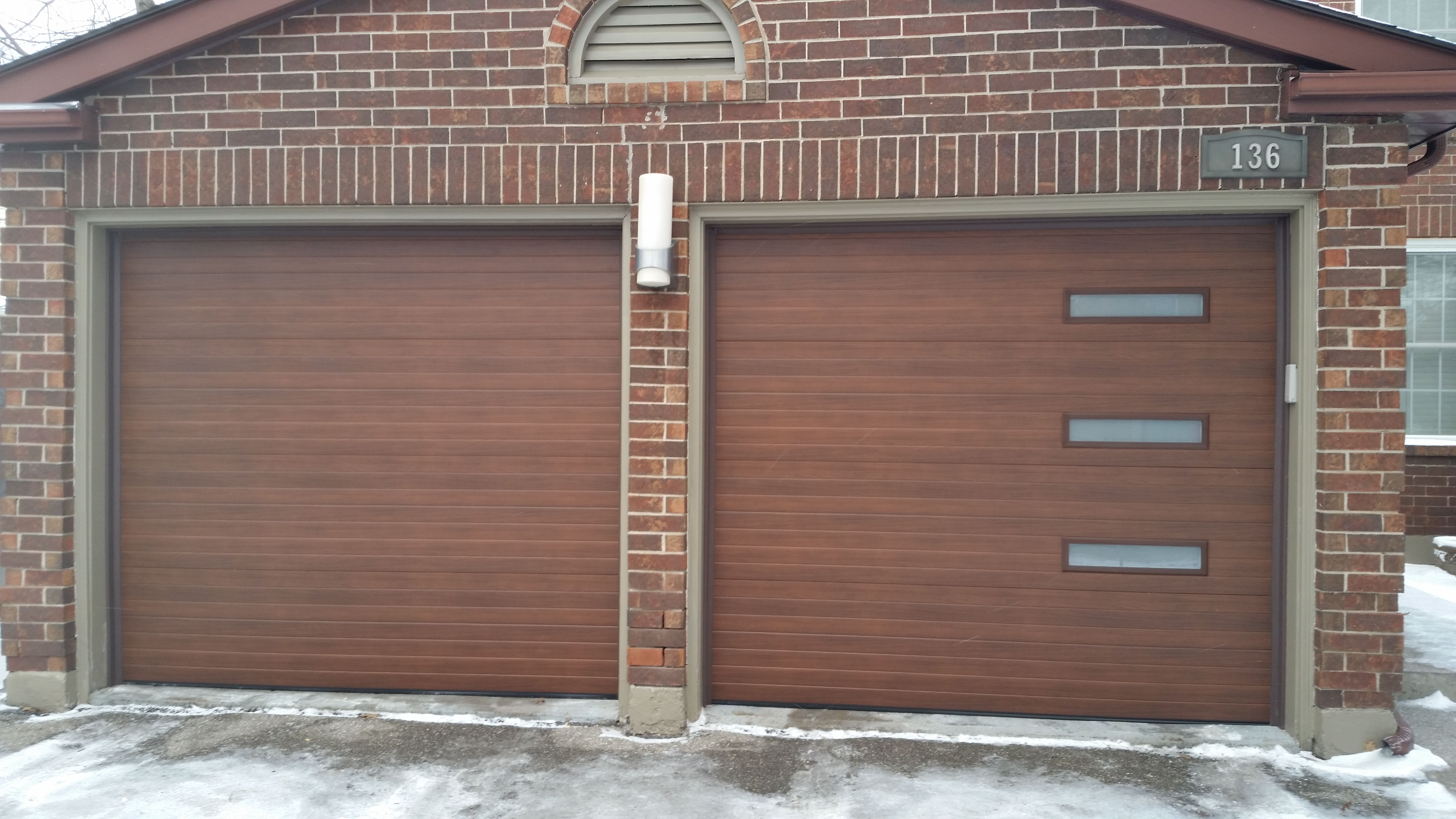 Steelcraft Contemporary In Walnut With Thermopane Glass