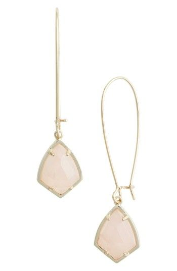 KENDRA SCOTT 'CARRINE' SEMIPRECIOUS STONE DROP EARRINGS. #kendrascott #