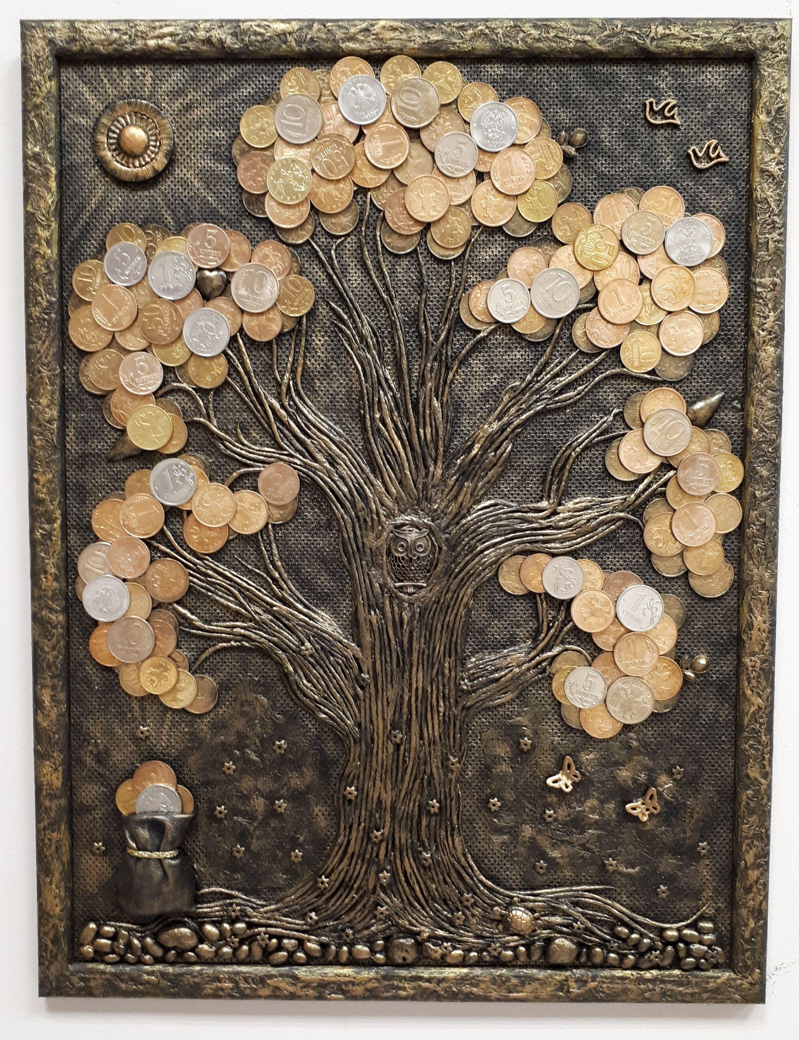 tree coins art | Clay | Coin art, Art, Coin crafts