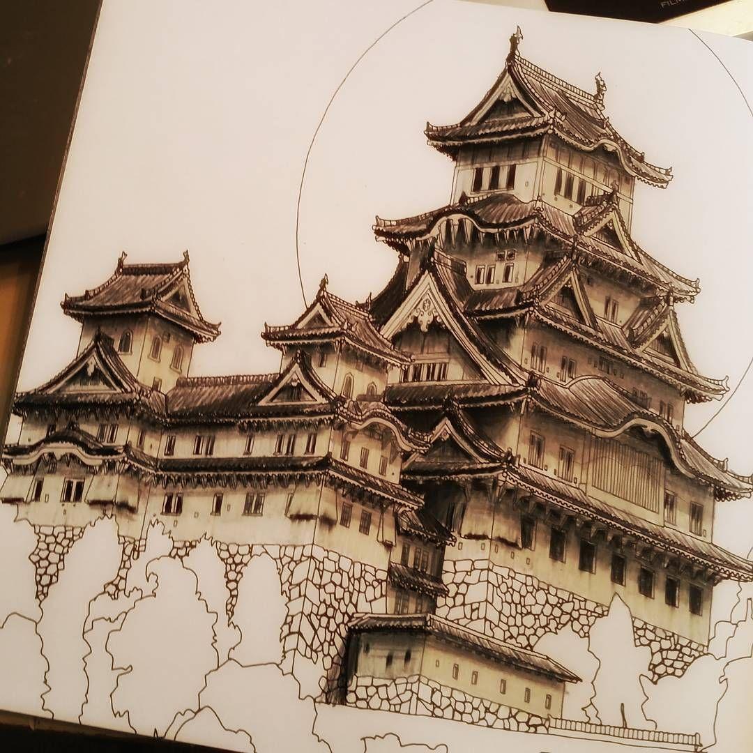 Fantastic fun book to color -  Coloring Fun Adultcoloringbook Fantasticcities Himejicastle Fantasticcitiescolouringbook