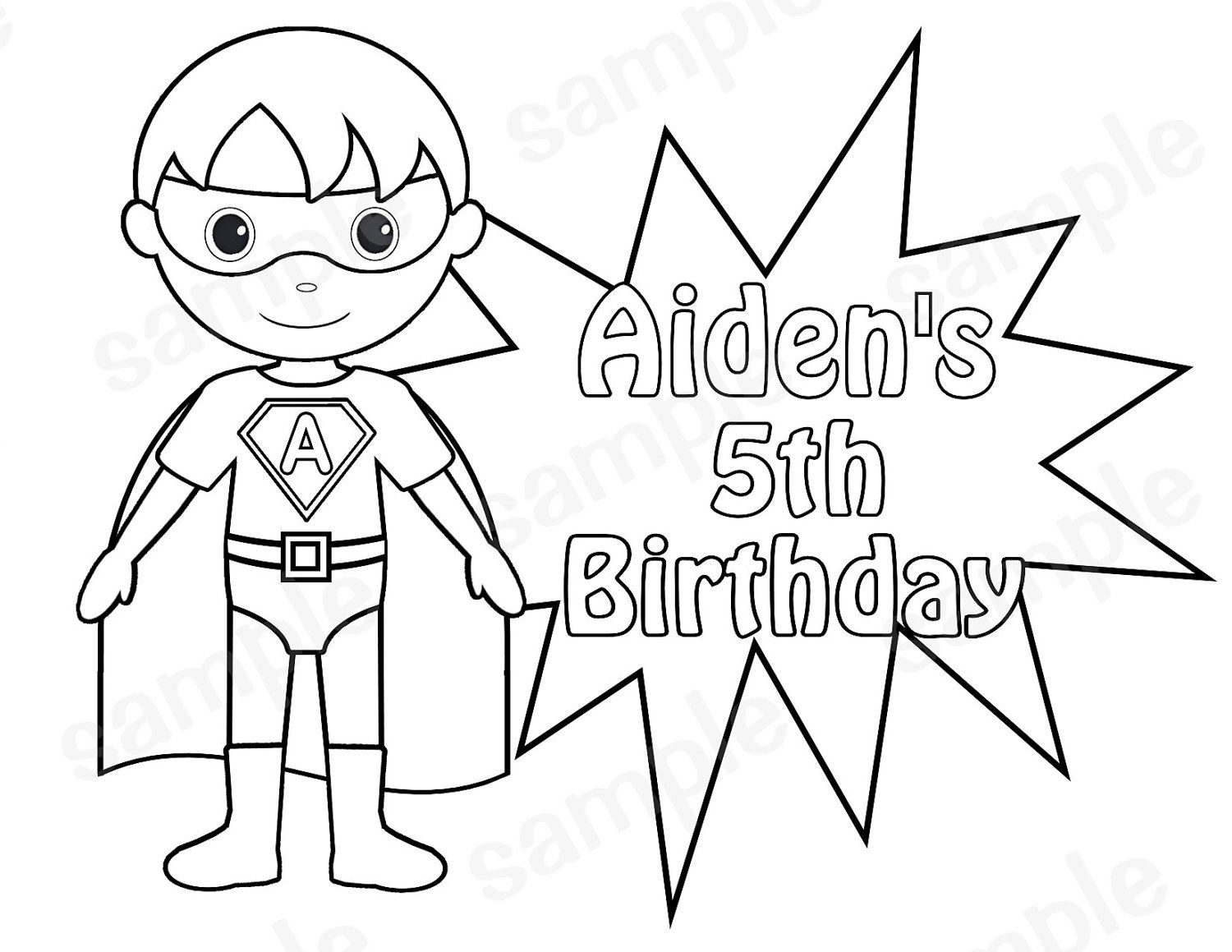 boy superhero coloring pages - photo#7