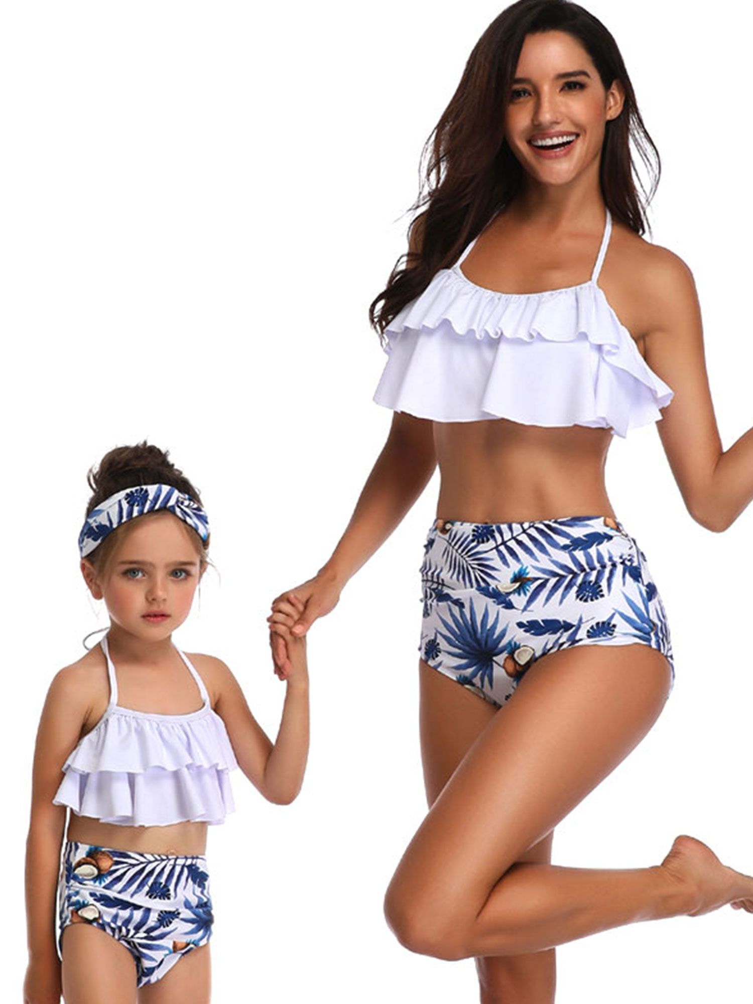 ee9a997c92f Family Matching Swimwear Mother Daughter Women Kids Girl Bikini Set Beachwear  Bathing Suit Swimsuits Beachwear Push-Up Bra Bandage #Ad #Women,  #Sponsored, ...