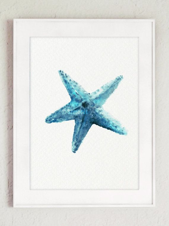 Starfish Minimalist Painting Oceanic Creatures by ...
