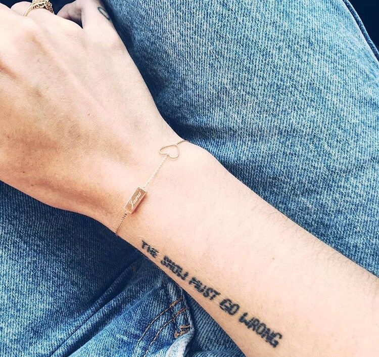 """The Show Must Go Wrong - wrist tattoo - Parks and Recreation quote. Andy - """"There's an old saying in show business: The show must go wrong. Everything always goes wrong, and you just have to deal with it."""""""