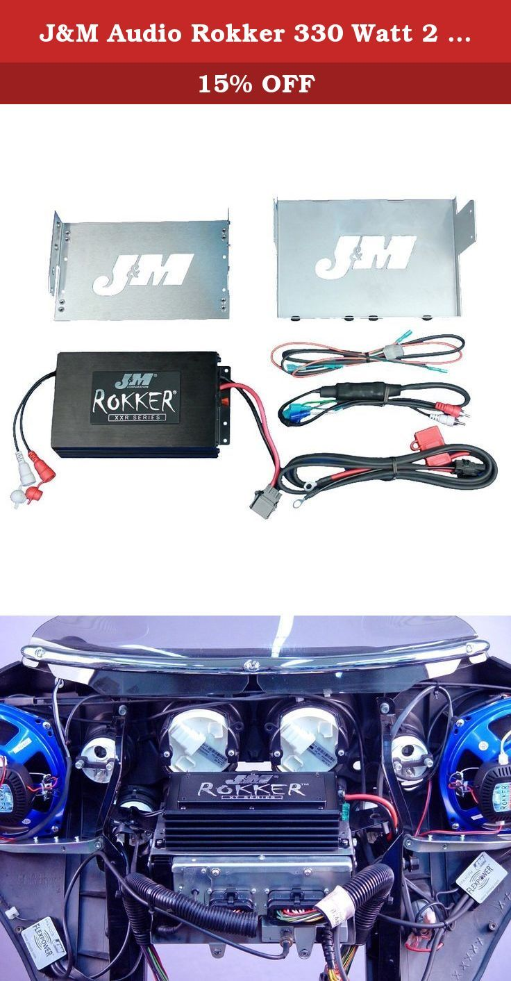 small resolution of j m audio rokker 330 watt 2 channel amplifier kit for 2006 2013 harley davidson