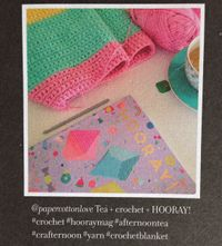 Crochet color blocked baby blanket idea.
